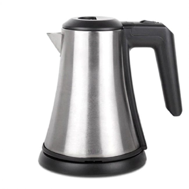 KETTLE, CORDLESS, STAINLESS STEEL, 0.8L